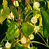 IREALIST Solar String Lights,Globe 20LED Sring Lights,Lanterns Tree Ornament for Outdoor, Gardens, Homes, Wedding, Waterproof