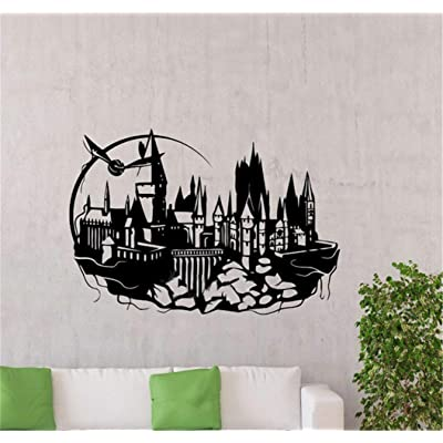Hogwarts Wall Decal Harry Potter Castle Vinyl Sticker Kids Room Nursery Art Decor Mural Film Poster: Home & Kitchen