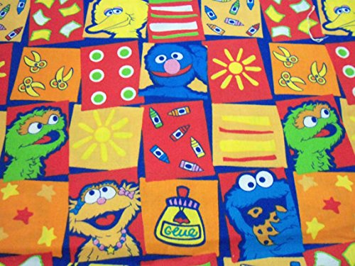 Sesame Street Fabric Flannel Colorful Characters By The Fat Quarter BTFQ