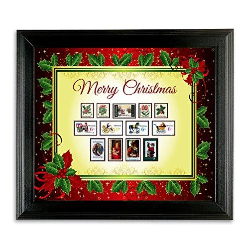 American Coin Treasures Kids - Framed Vintage Christmas Stamps by American Coin Treasures (Image #1)