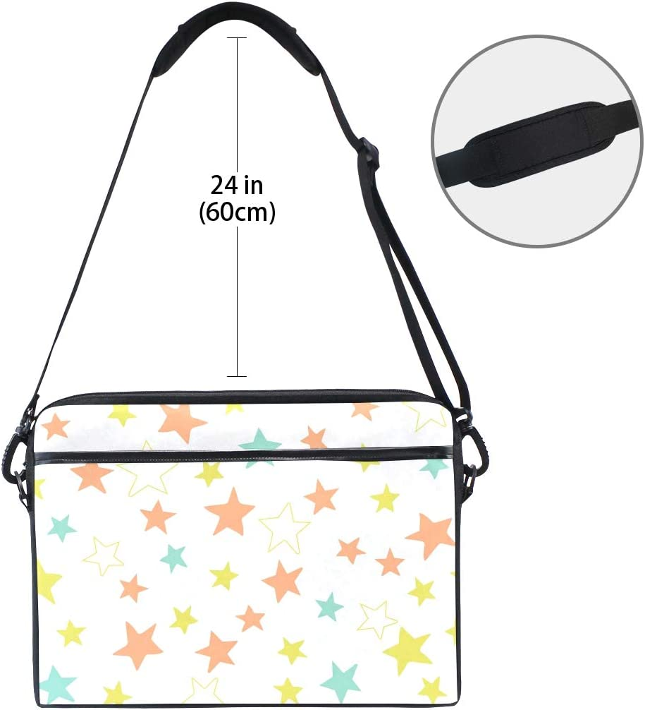 DEZIRO Lovely Stars Laptop Shoulder Bag 15 in Notebook Computer Briefcase with Side Handles
