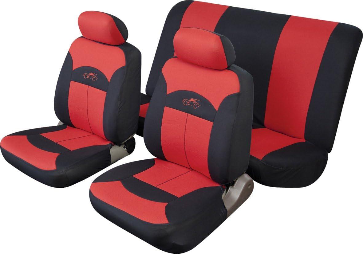 COSMOS Car Seat Cover Celcius Set Black//Grey 14002