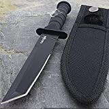 7.5'' MILITARY TACTICAL TANTO COMBAT KNIFE w/ SHEATH Survival Hunting Fixed Blade by Only US
