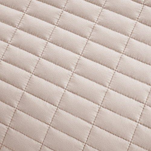 Comfort Spaces - Kienna Quilt Mini Set - 3 Piece - Blush - Stitched Quilt Pattern - Full/Queen Size, Includes 1 Quilt, 2 Shams