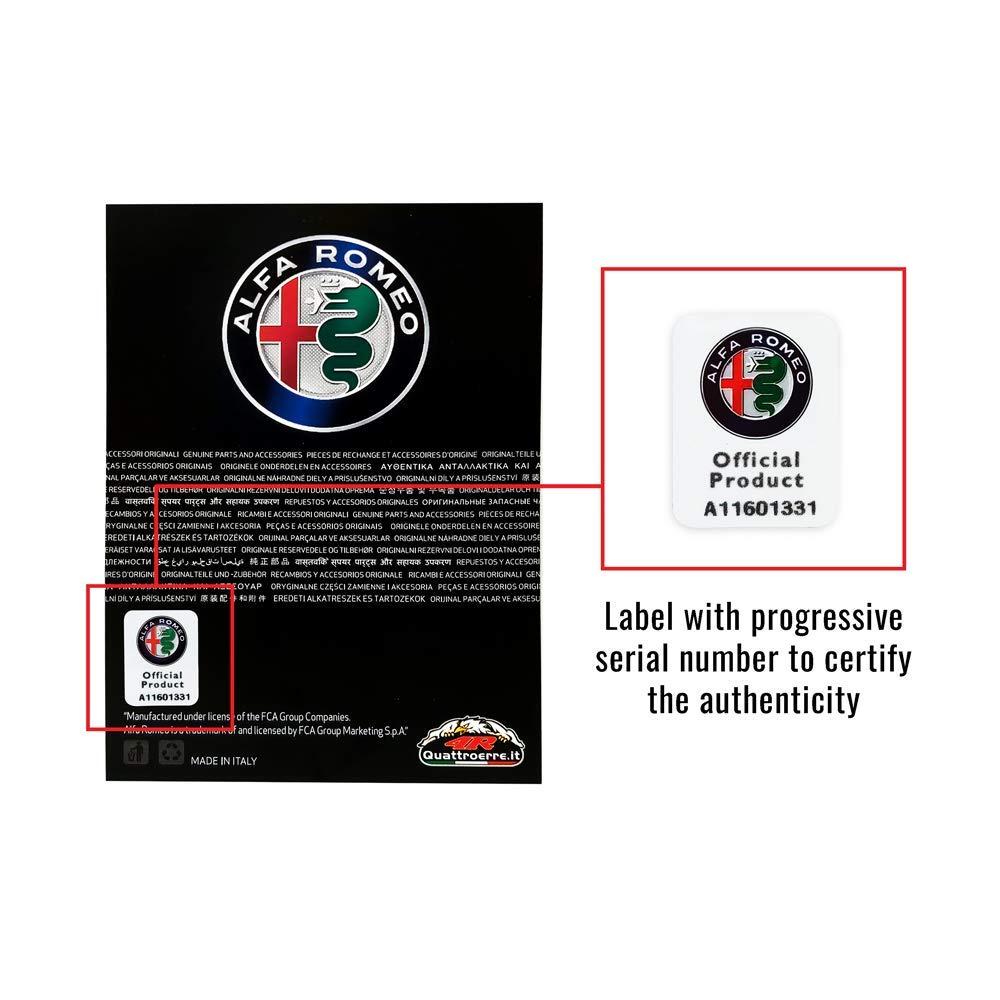 Set of 2 10 cm Green Alfa Romeo 21841 White 95 mm x 85 mm 3D Sticker 2 Four-Leaf Clovers DX+SX