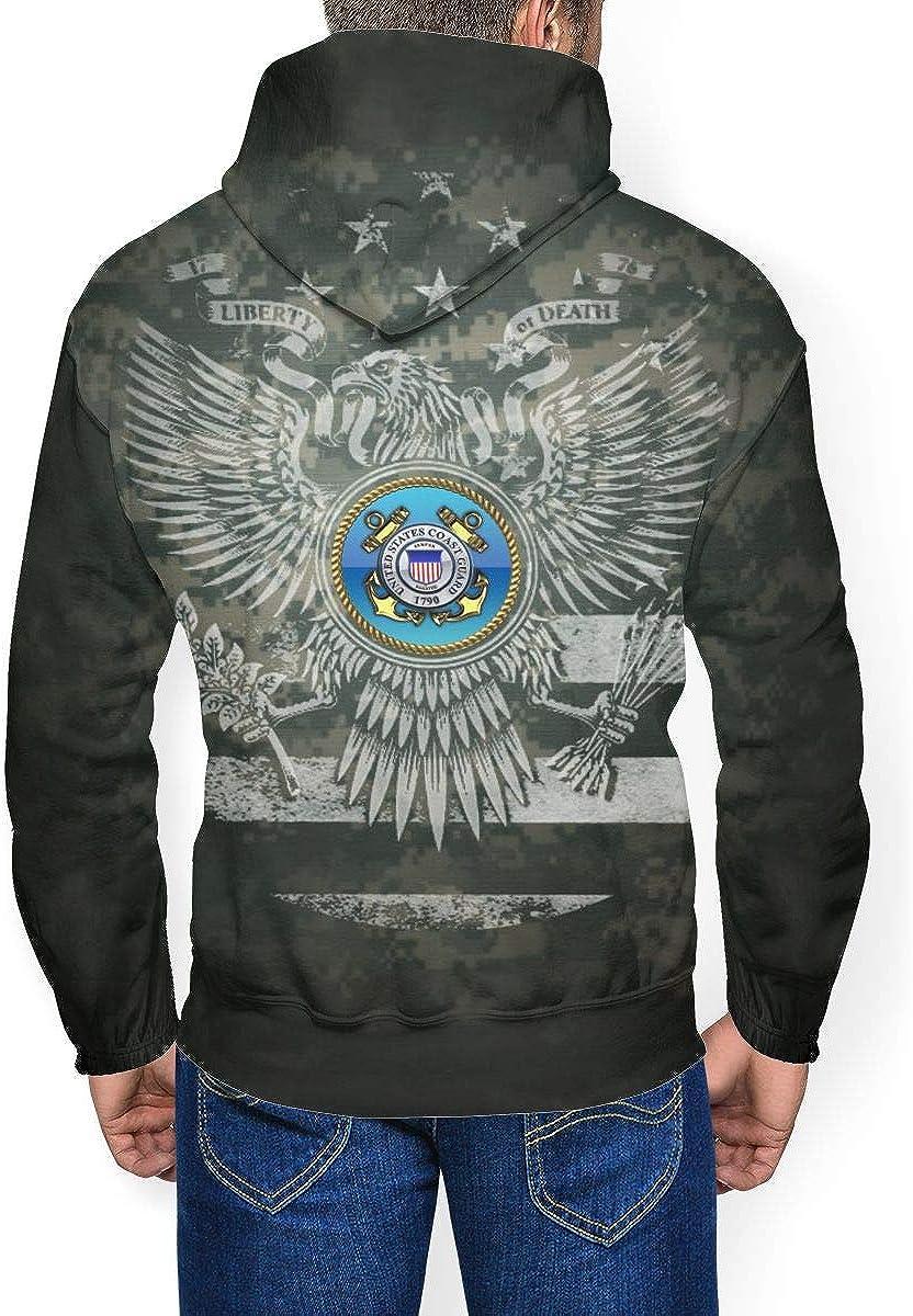 Mens Athletic Pullover Cozy Sport Outwear US Coast Guard Sweatshirt Hoodies
