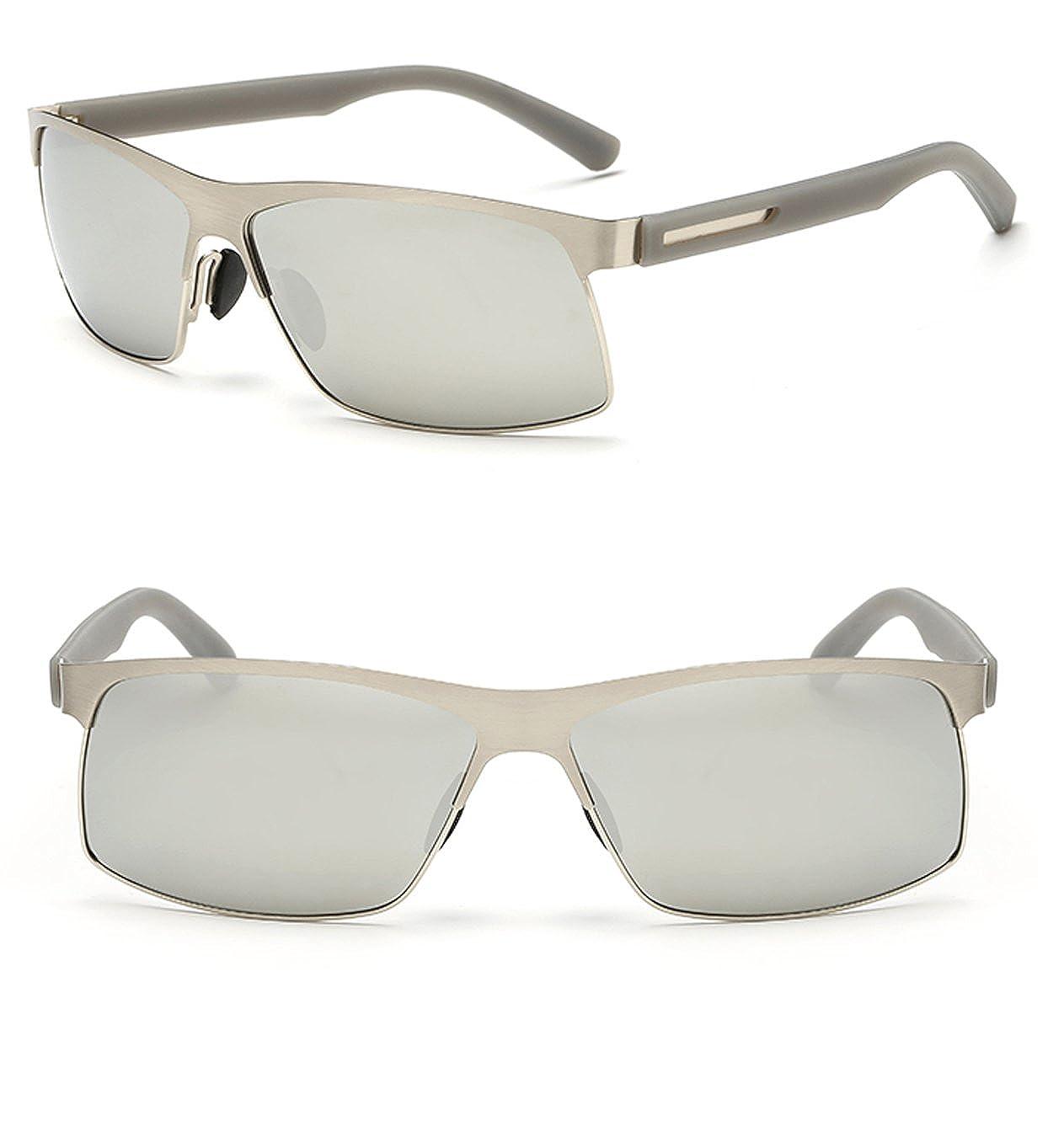 9f90fa1ae3 Marco de metal polarizadas de protección UV400 tac lentes Gafas de sol para  conducir: Amazon