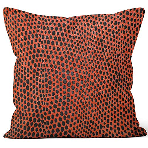 Nine City Red Leather of Salamander Sack Burlap Pillow,HD Printing Square Pillow case,40