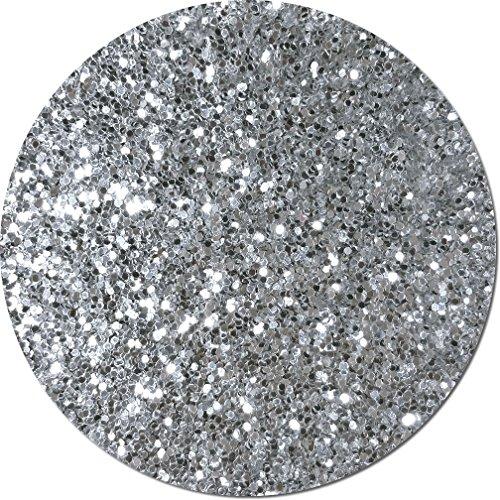 Glitter My World! Fat Flake Craft Glitter: 1 lb Jar Silver Moonlight