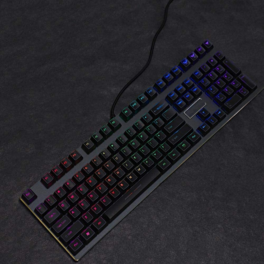 Axis Body : 61 Keyboard keycaps ABS Backlit ABS Profile 108 Keycap Set for 108 104 87 61 Switches Mechanical Keyboard