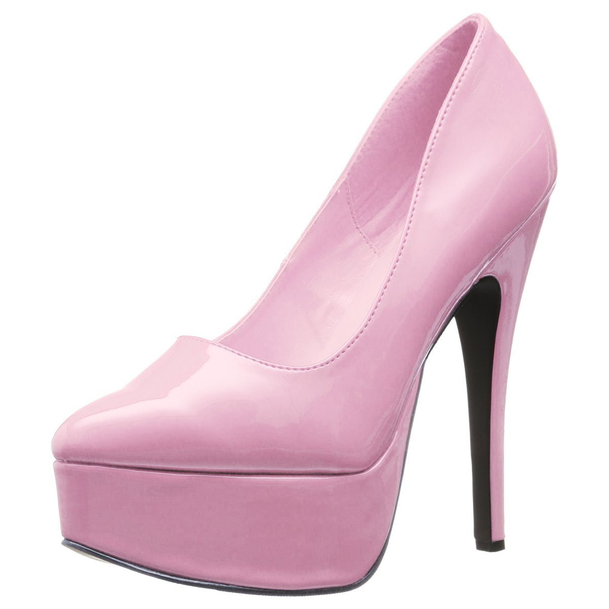 Summitfashions Womens 6.5 Inch Stiletto Pointed Toe Platform Pumps Shoes Pink