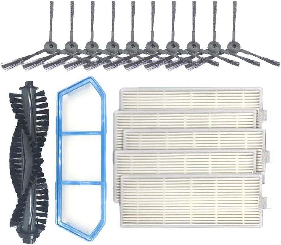 CAOQAO Ilife A4S - Kit de Filtro y Cepillo Lateral de Repuesto Compatible con Robot de Filtro primario, 1 Cepillo Principal, 1 Unidad + 5 cepillos Laterales de Repuesto: Amazon.es: Hogar