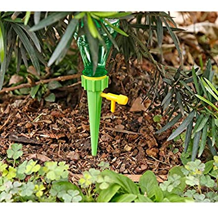 LINSUNG 24-Piece//Set Garden Cone Watering Spikes Drip Controller Flower Plant Waterers Bottle Automatic Irrigation System