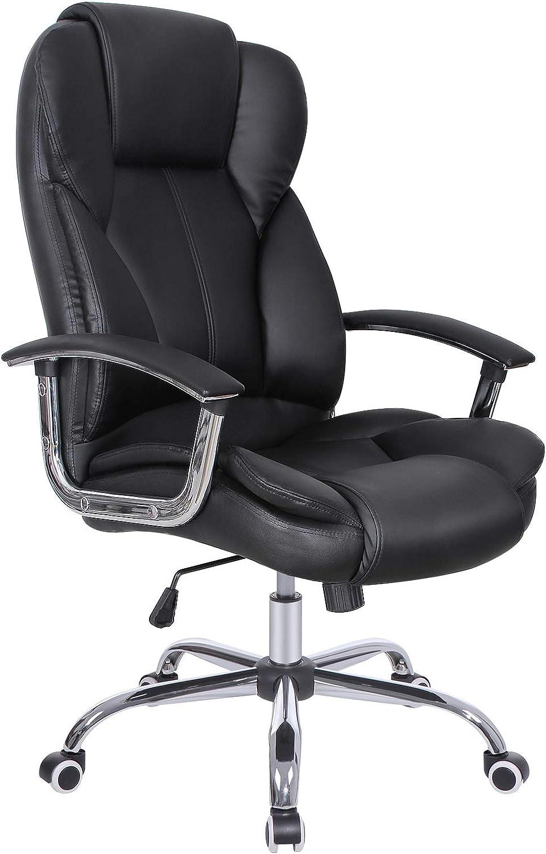 SONGMICS B/ürostuhl Chefsessel Drehstuhl Computerstuhl Sitzh/öhenverstellung  office Stuhl Polsterung OBG41B