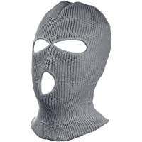 """""""N/A"""" 3 Hole Warm Soft Motorcycle Winter Full Face Cover Knit Ski Mask for Outdoor Sports"""
