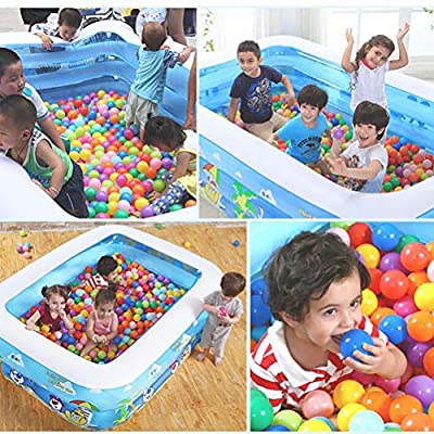 ZEIYUQI Inflatable Pool Above Ground Ourdoor Swiming Pool for Kids Foldable PVC Thick Wear-Resistant Water Play Fun Big Family Pool: Sports & Outdoors