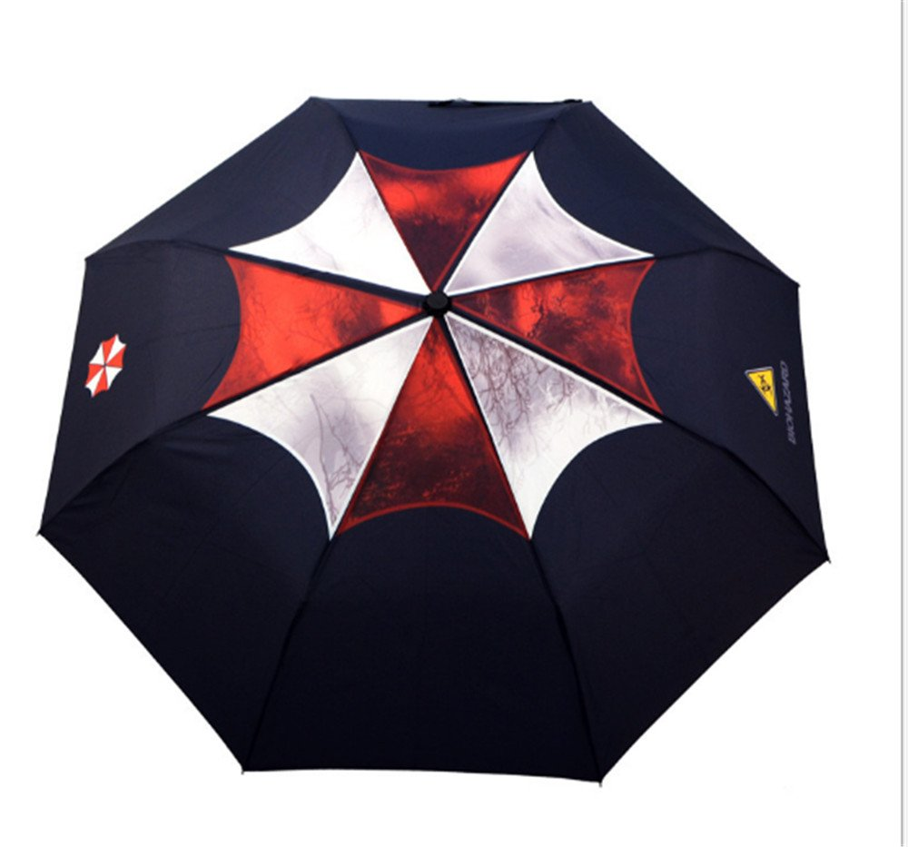 Biohazard Umbrella Corporation Black Waterproof Folding Anime Umbrella