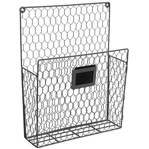 Super Amazon.com: Wall Mounted Rustic Style Chicken Wire Gray Metal  AK98