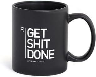 e38bedb3131 STARTUP VITAMINS Get Shit Done Matte Coffee Mug