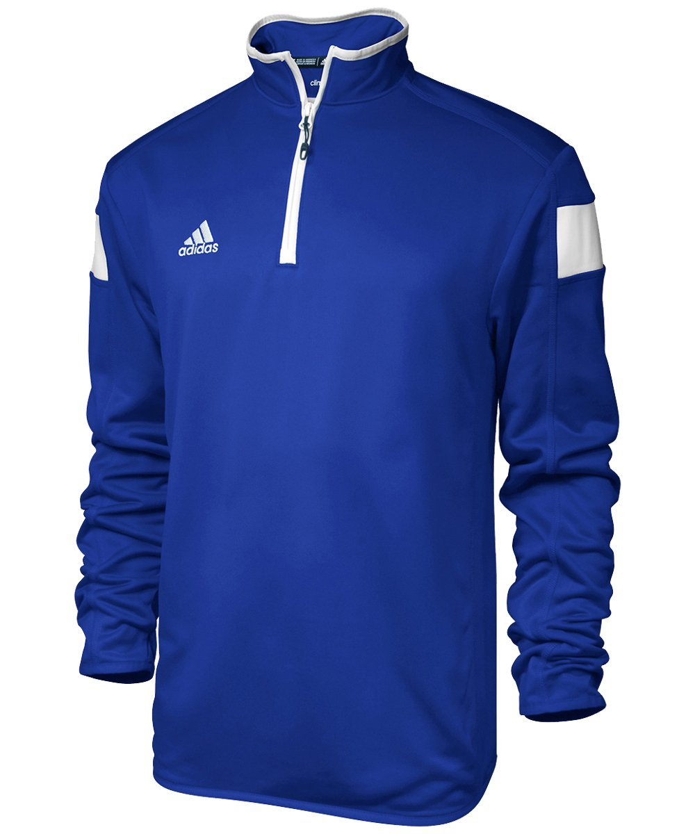 adidas climalite Shockwave 1/4 Zip Long sleeve, Collegiate Royal/White, Xx-Large by adidas