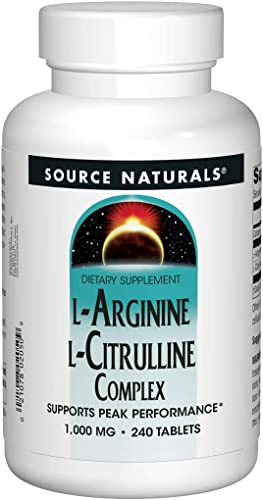 Source Naturals L-Arginine L-Citrulline Complex 1000mg Essential Amino Acid Supplement – 240 Tablets