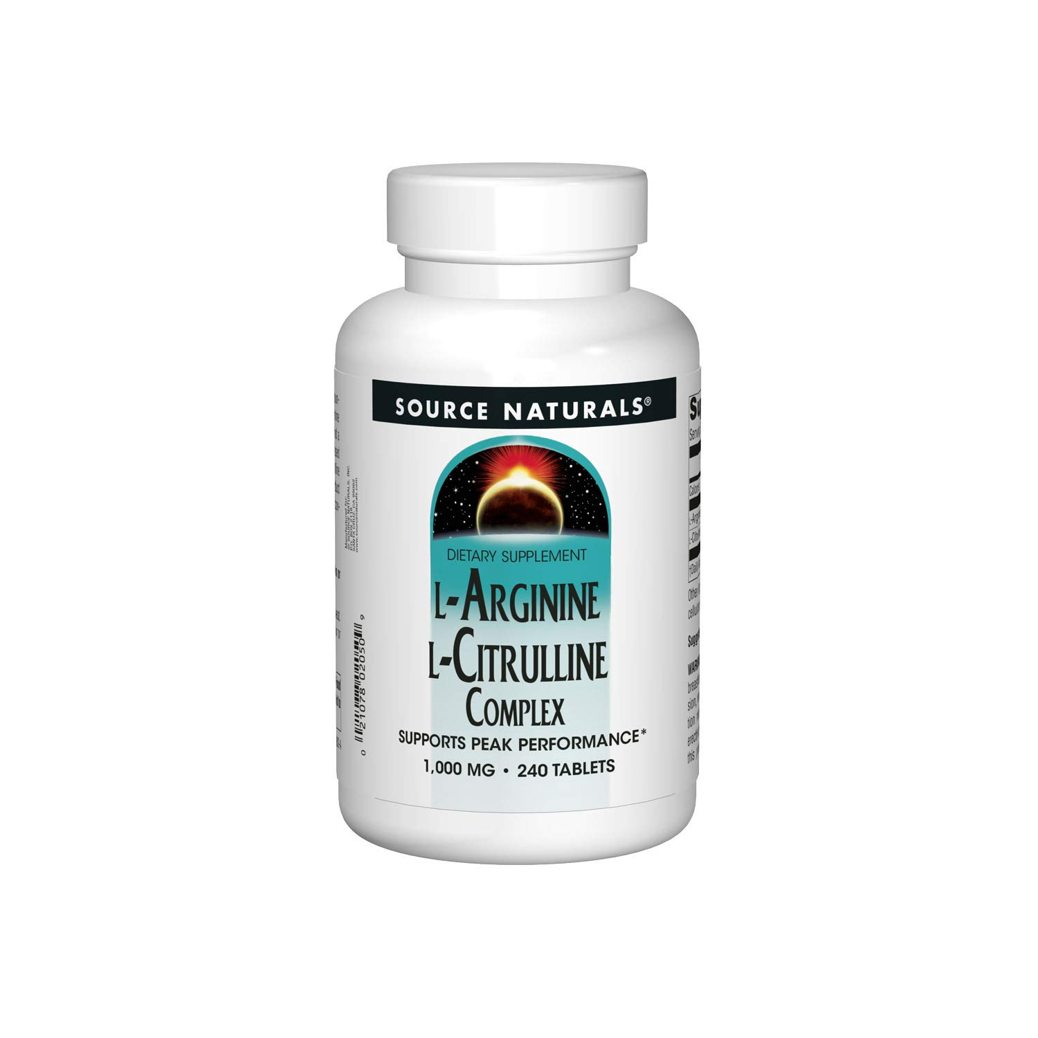 Source Naturals L-Arginine L-Citrulline Complex 1000mg Essential Amino Acid Supplement - 240 Tablets by Source Naturals