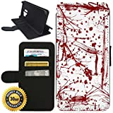 Flip Wallet Case for Galaxy S9 Plus (Blood Splatter) with Adjustable Stand and 3 Card Holders | Shock Protection | Lightweight | Includes Stylus Pen by Innosub Review