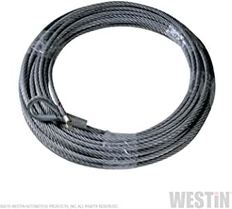 "T-MAX 47-3620 Steel Winch Cable 23/64"" x 94' for winches over 10000lb load rating"