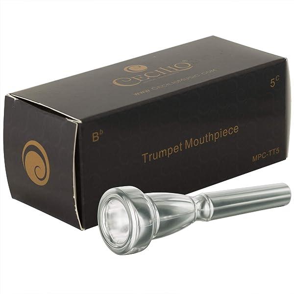 Cecilio Trumpet Mouthpiece, 5C, Silver Plated (Tamaño: 5C)
