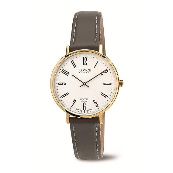 Boccia Reloj Digital para Mujer de Cuarzo con Correa en Cuero 3246-12: Amazon.es: Relojes