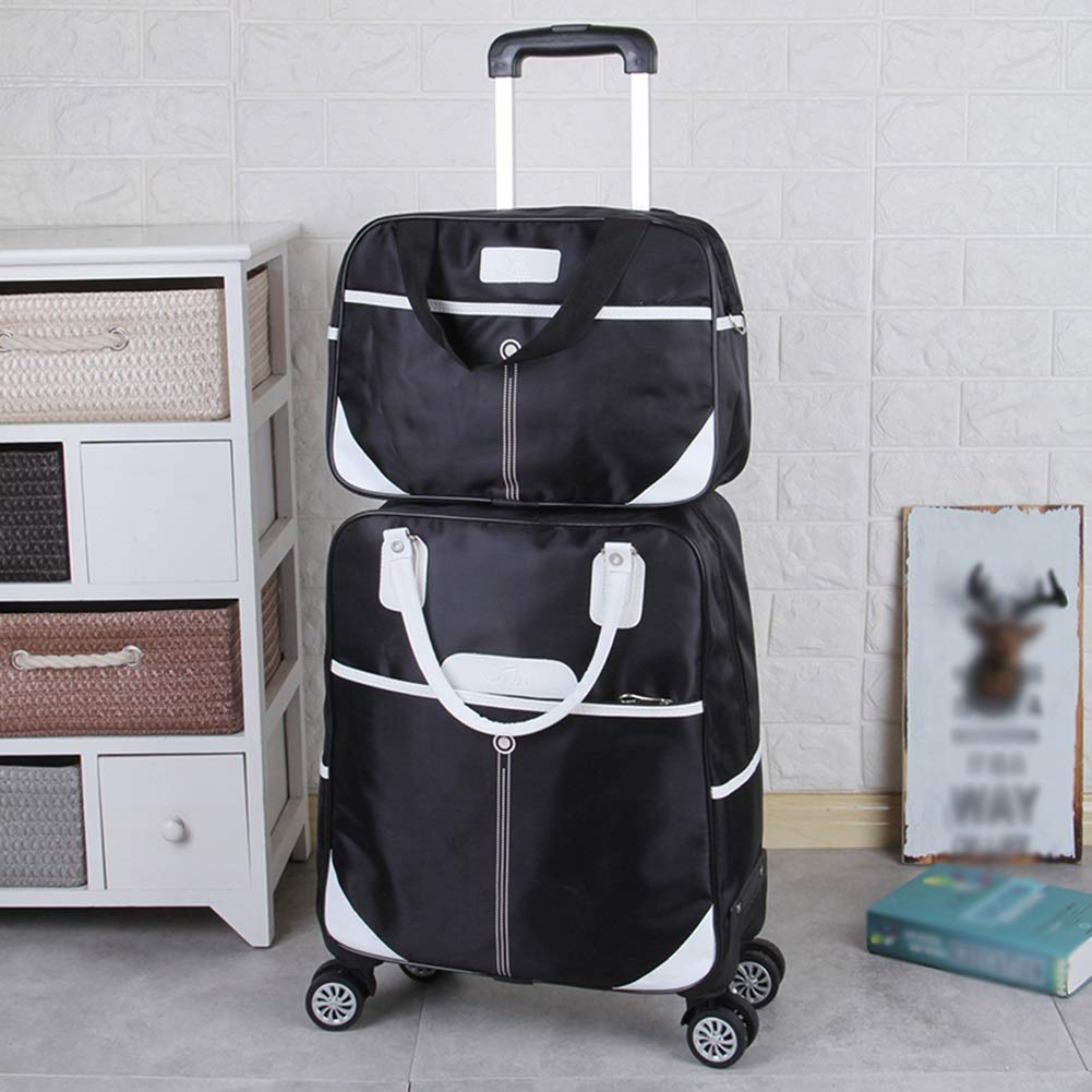 Trolley Case Luggage Suitcases Light Tila High Capacity Universal Wheel Travel Bags Carry On Hand Luggage Durable Hold Tingting Color : Black4, Size : L