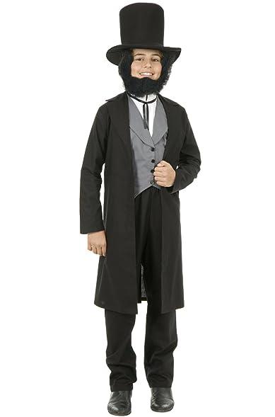 Abe Lincoln Child Costume - Small  sc 1 st  Amazon.com & Amazon.com: Boys Abraham Lincoln Costume with Vest and Hat Accessory ...