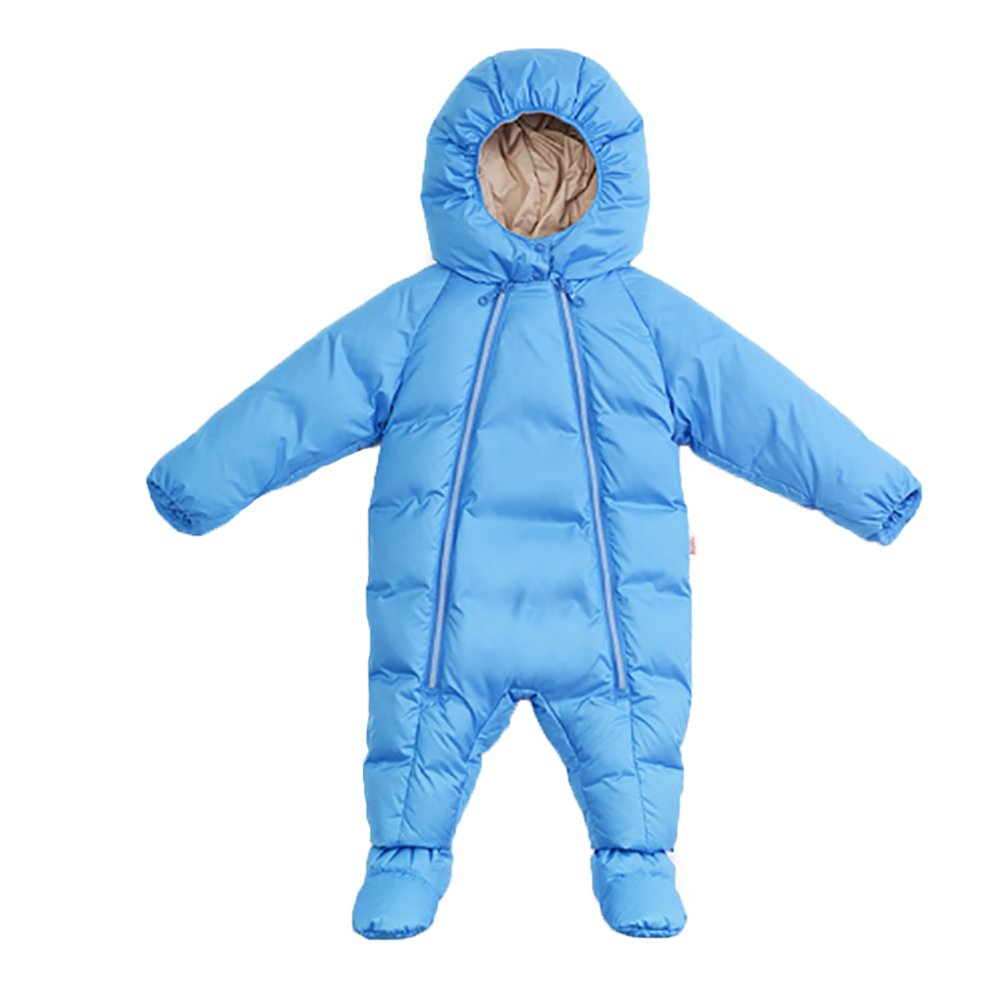 Nanny McPhee Baby Jumpsuit Unisex Newborn Baby Hooded Winter Down Puffer Snowsuit with Shoes and Gloves 8-12 Months/1-2 Years