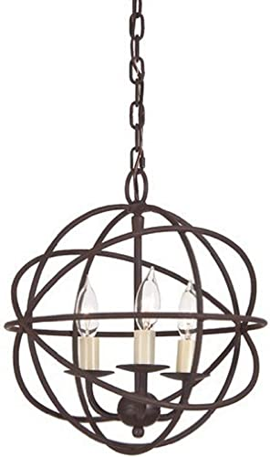 JVI Designs 3030-22 3-Light Globe Chandelier