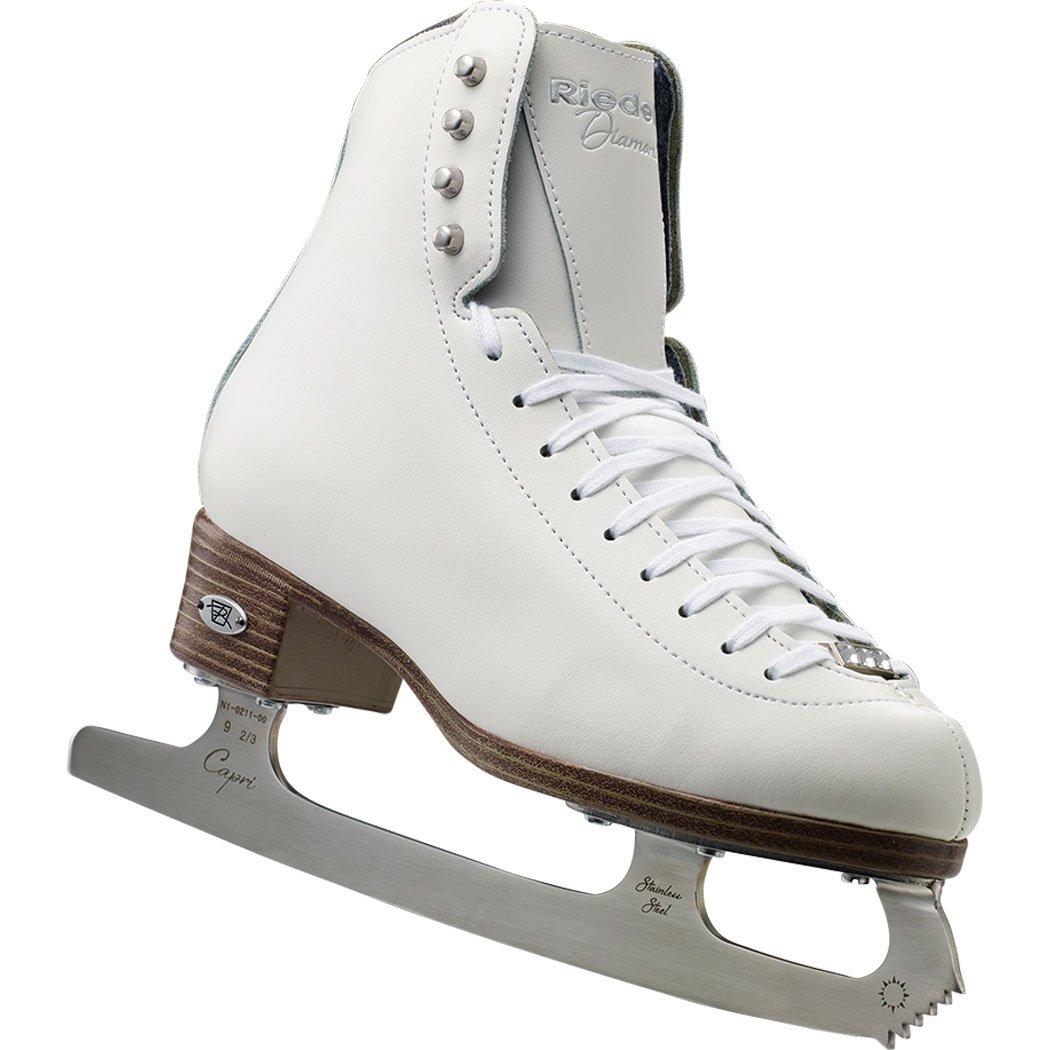 Riedell Skates - 33 Diamond Jr. - Youth Ice Figure Skates with Capri Blade for Girls