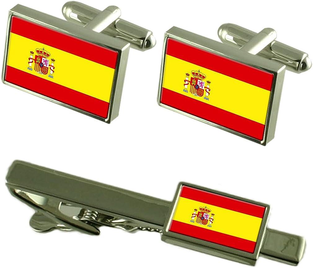 Select Gifts Clip de Corbata Gemelos Bandera España Matching Box ...