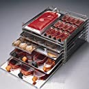 Bel-Art Scienceware 186100440 Stainless Steel Stak-A-Tray System Rack with 4 Center Supports