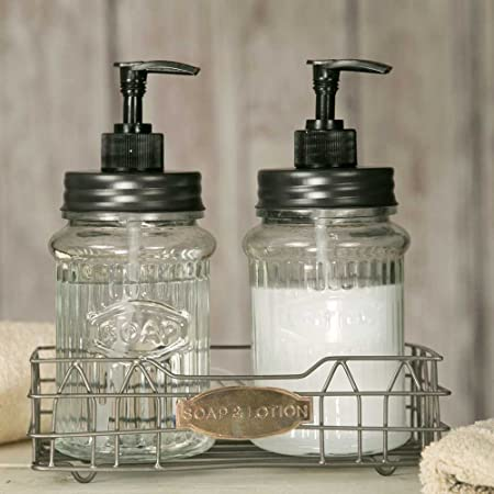 Hoosier Soap And Lotion Dispensers With Wire Caddy Amazoncouk