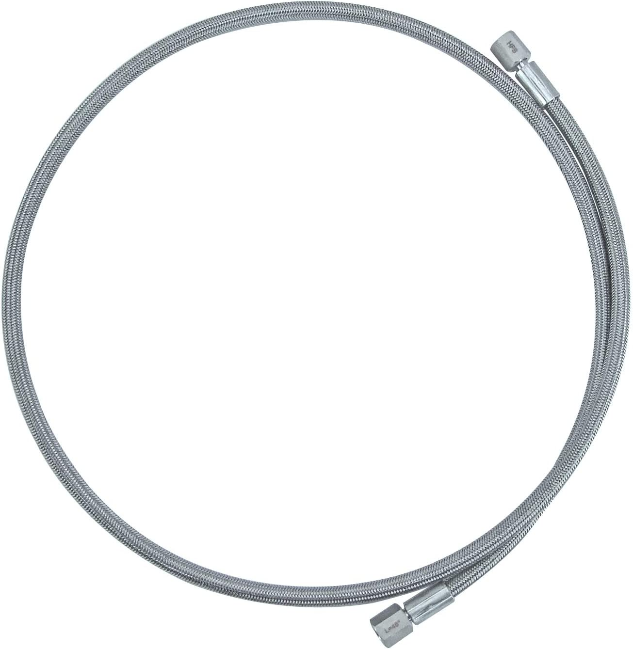 96 HFS Stainless Steel Braided Hose R PTFE Lines JIC 1//2 Female