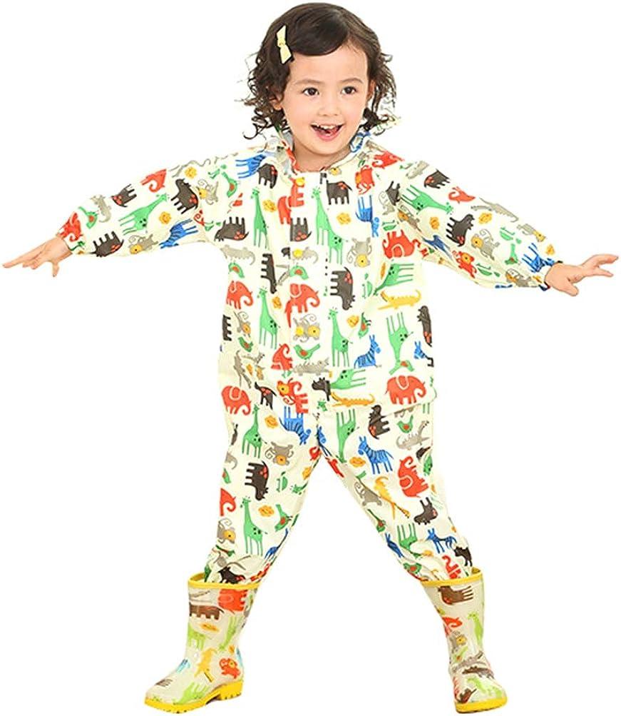 Gelamo Tuta Impermeabile Bambino Impermeabile con Cappuccio per Bambini e Bambine