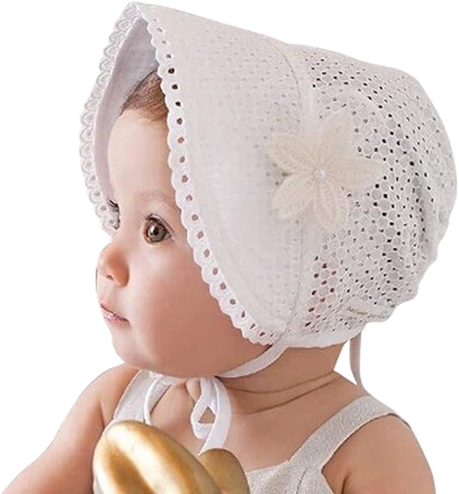 Baby Cap Size 24 mos Pink Eyelet