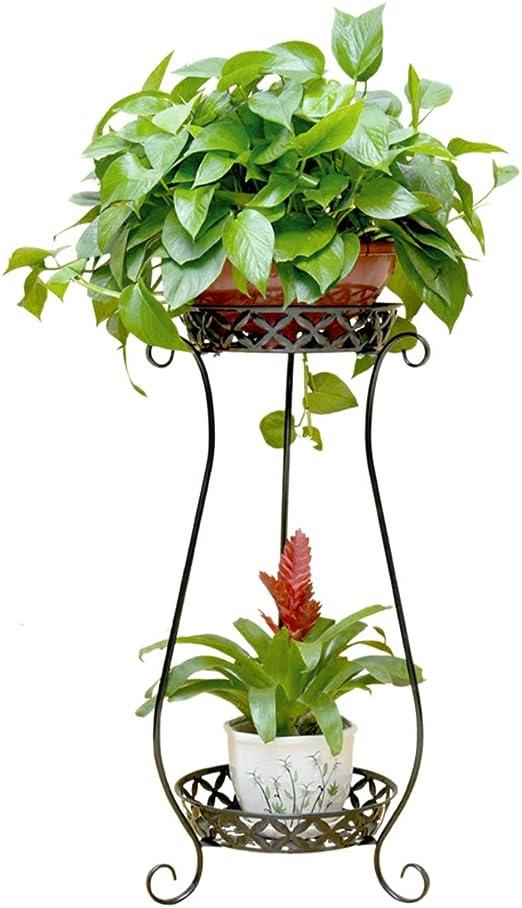 Haunen Estanteria para Macetas 2 Niveles Maceteros Porta Macetas Metal Decorativos Stand para Macetas Exterior Interior Jardín, 70 x 39cm: Amazon.es: Jardín