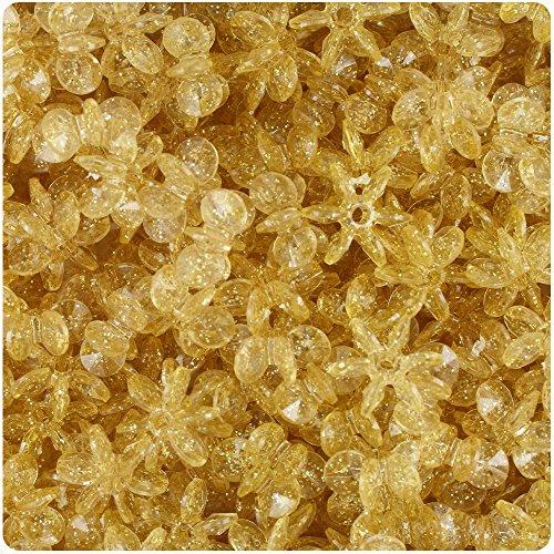 Sunburst Spacers - BeadTin Gold Sparkle 12mm SunBurst Craft Beads (400pcs)