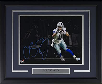 Cole Beasley Signed Framed 11x14 Dallas Cowboys Spotlight Photo Fanatics b212eff4e