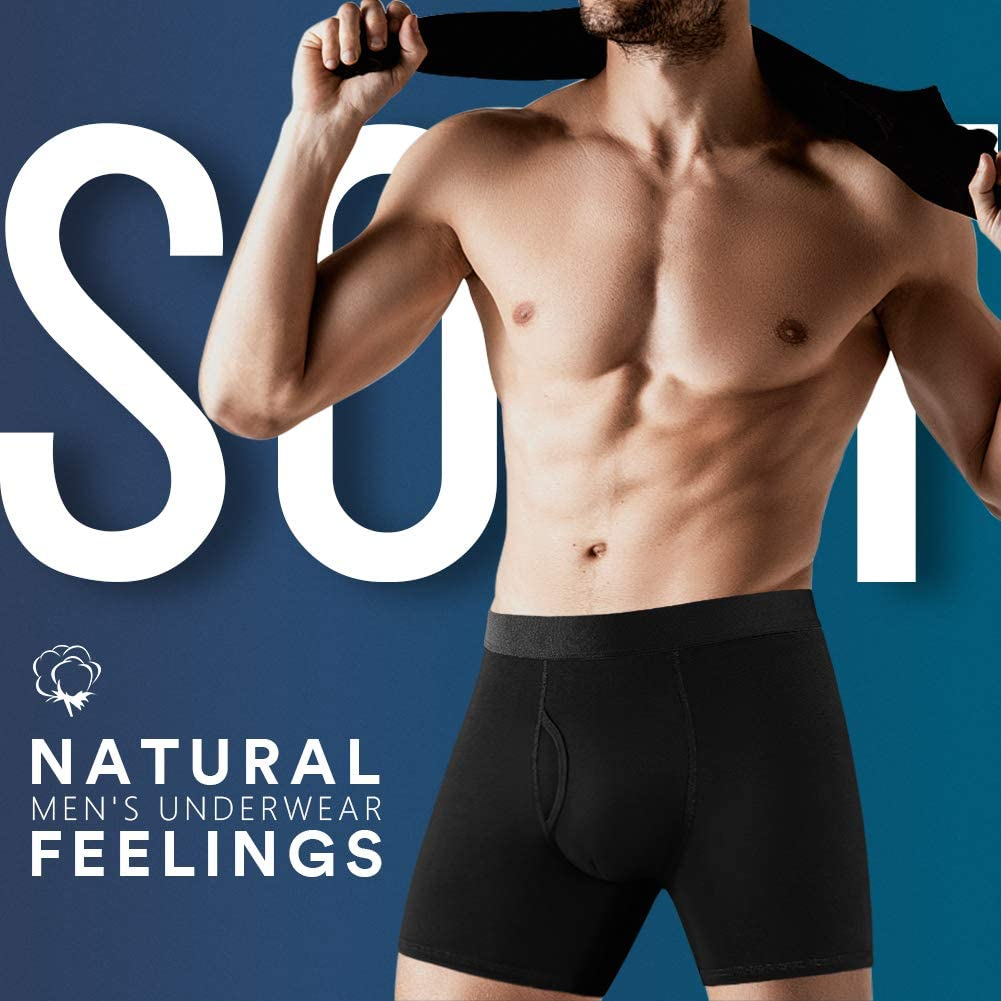 Natural Feelings Boxer Uomo Cotone Mutande Uomo Elastico Intimo Tessuto Estremamente Soffice Boxer Aderenti