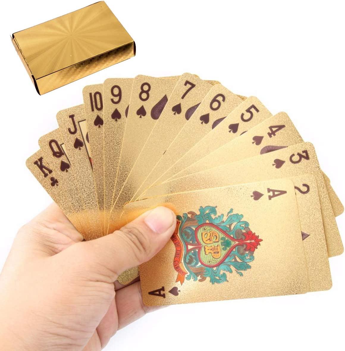 Techson Poker for Playing Texas Holdem Blackjack Game, PVC Plastic Cards with Waterproof, Made for Magic Tricks Deck Family Party Game