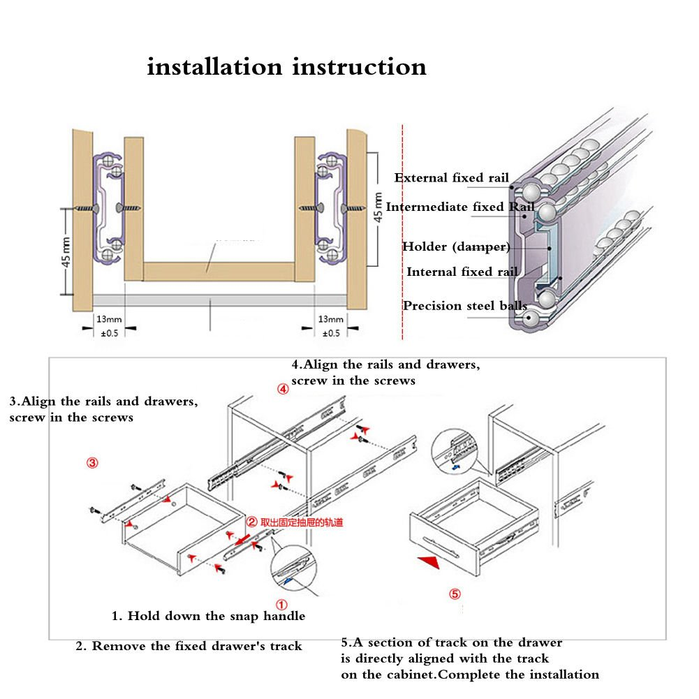 Drawer Slides Full Extension Ball Bearing Self Close If The Of A Schematic Is Really Nice Like Engineer Who Side Mount Cabinet Furniture Mute 10 Inch 1 Pair