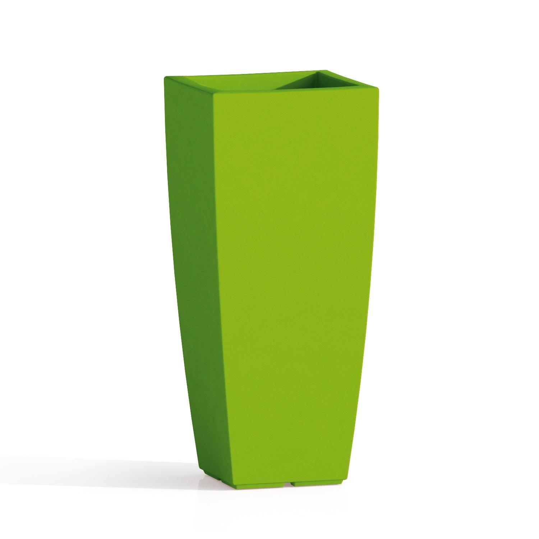 Vaso Quadro 'Stilo' In Polietilene Colorato. Dal Design Elegante In Puro Stile Moderno, È Un Ottimo Complemento D'Arredo E Si Abbina A Molteplici Ambienti Nei Quali Viene Collocato. Teknoplast