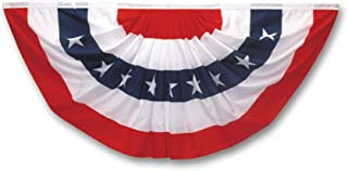 product image for Valley Forge Flag PMF Pleated Mini Fan Flag With Stars Bunting, 1-1/2-Foot x 3-Foot