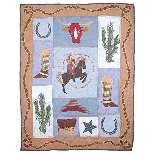 (Patch Magic 36-Inch by 46-Inch Cowgirl Quilt Crib )